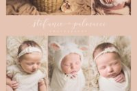 collage of newborn photo shoot